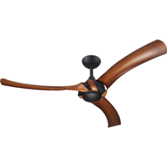 Aeroforce 2 Matt Black Ceiling Fan with Koa Polymer Blades