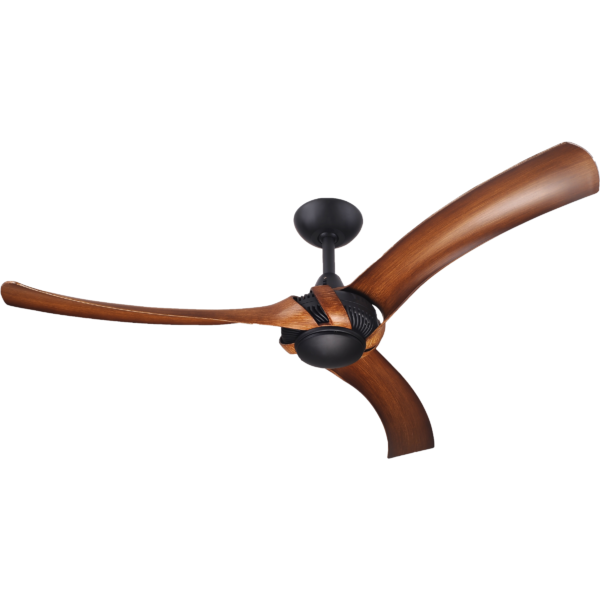 Aeroforce 2 Matt Black Ceiling Fan with Koa Polymer Blades -