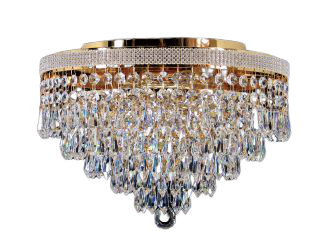 Crystal Close to Ceiling Chandelier