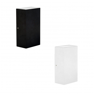Platz Up Down Square Outdoor Pillar Light
