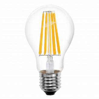 GLS 8W ES Clear LED Non-Dimmable Filament Globe Warm White