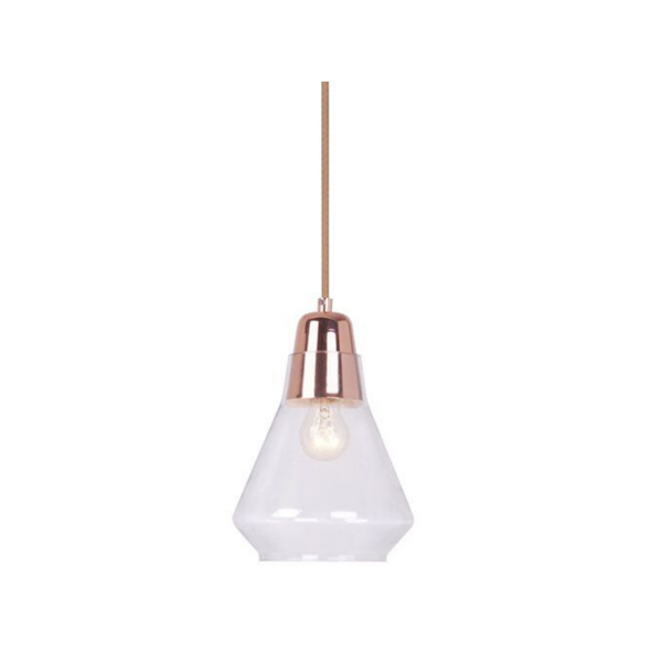 Ellise Copper and Glass Pendant Light -