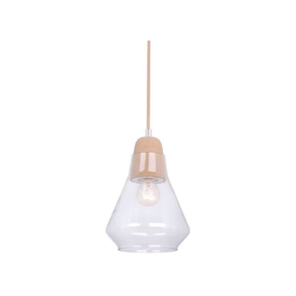 Ellise Cork and Glass Pendant Light