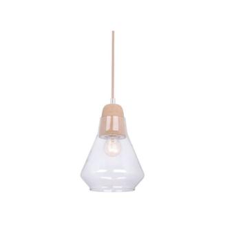 Ellise Cork and Glass Pendant Light