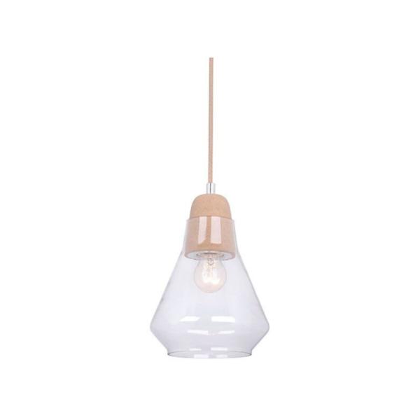 Ellise Cork and Glass Pendant Light -
