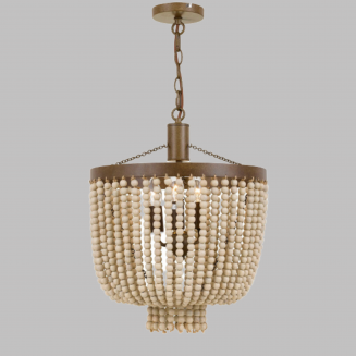 Maddison Natural Beaded 3 Light Chandelier