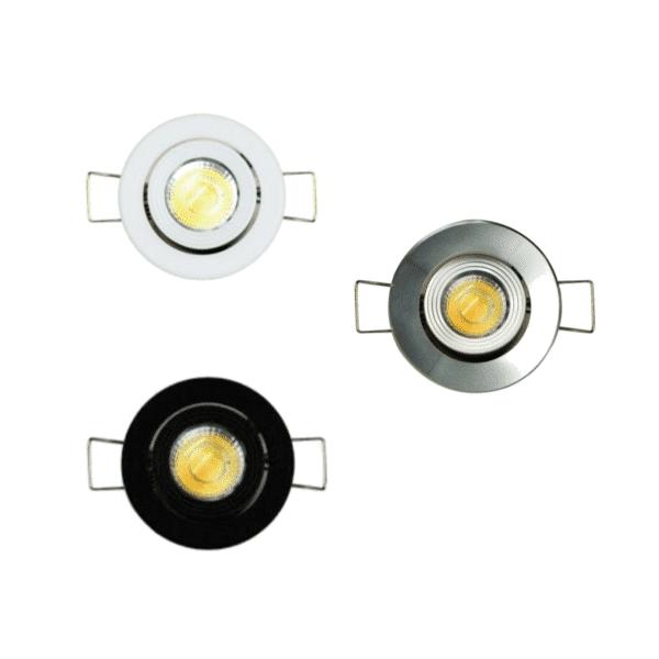 Munchkin 3W LED Mini-Gimbal CCT Downlight -