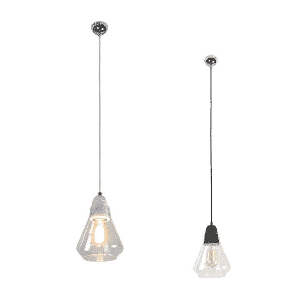 Ellise Marble and Glass Pendant Light - Ellise Marble and Glass Pendant Light
