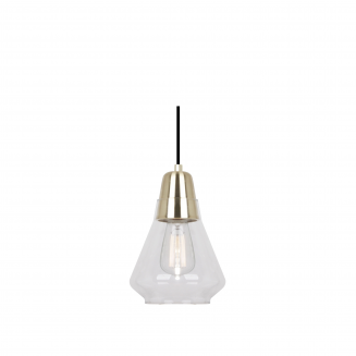 Ellise Satin Brass and Glass Pendant Light