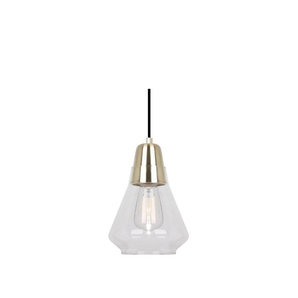 Ellise Satin Brass and Glass Pendant Light -