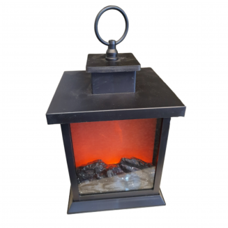 LED Fireplace Lantern Battery Operated