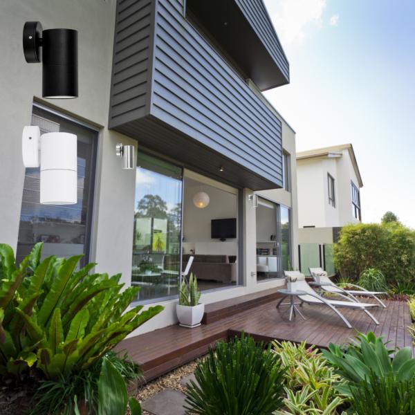 Tivah Fixed Down Outdoor Wall Pillar Lights -