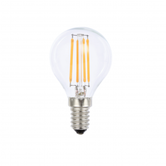 LED 4W E14 Fancy Round Clear Dimmable Cool White Globe