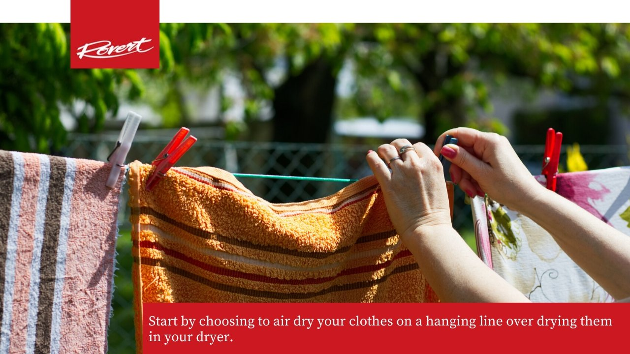 hang clothes outside