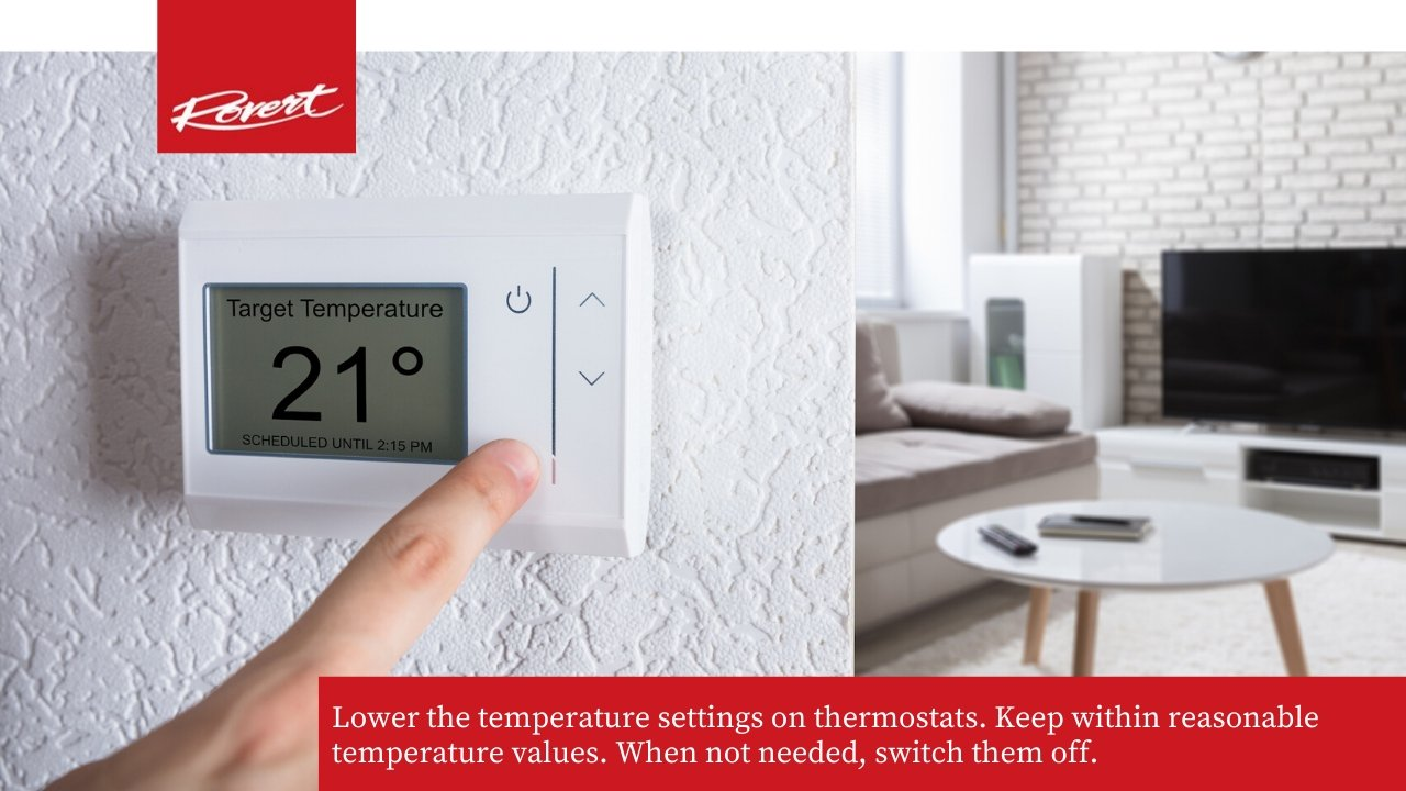 lowe temp setings on thermostats