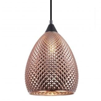 Rictus Copper Finish Ellipse Pendant Light