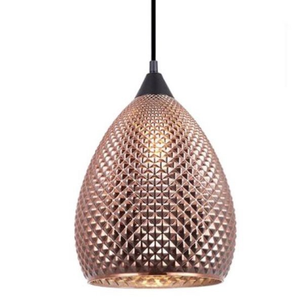 Rictus Copper Finish Ellipse Pendant Light -