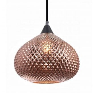 Rictus 1 Wine Glass Shape Pendant in Copper Colour Finish
