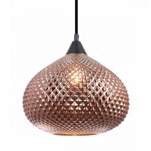 Rictus Copper Finish Wine Glass Pendant Light -