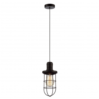 Blackband Iron Cage Pendant Light