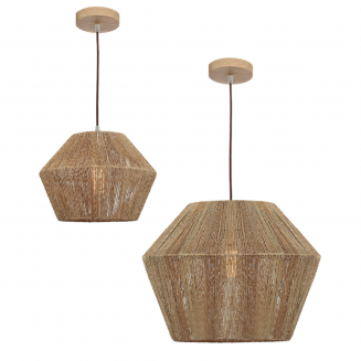 Cassie Natural Woven Thread Pendant Light