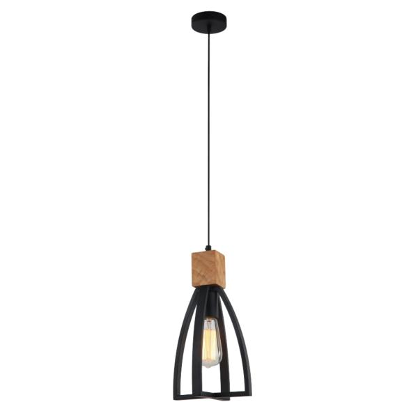 Faro Iron and Wood Pendant Light -