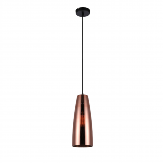Lamina Copper Glass Ellipse Pendant Light