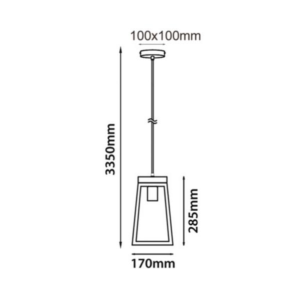 Lanterna Trapezium Pendant Light -