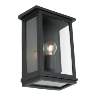 Madrid Black Metal Outdoor Wall Light