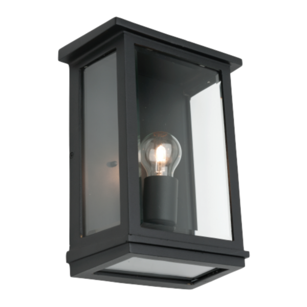 Madrid Black Metal Outdoor Wall Light -