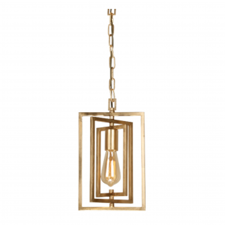 New York 1 Light Gold Iron Pendant