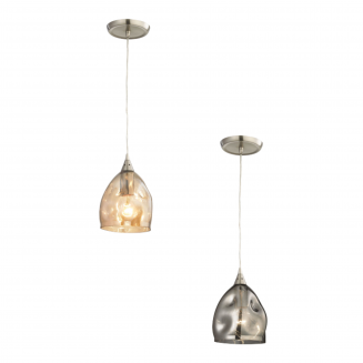 Ordito Single Chrome with Glass Pendant Light
