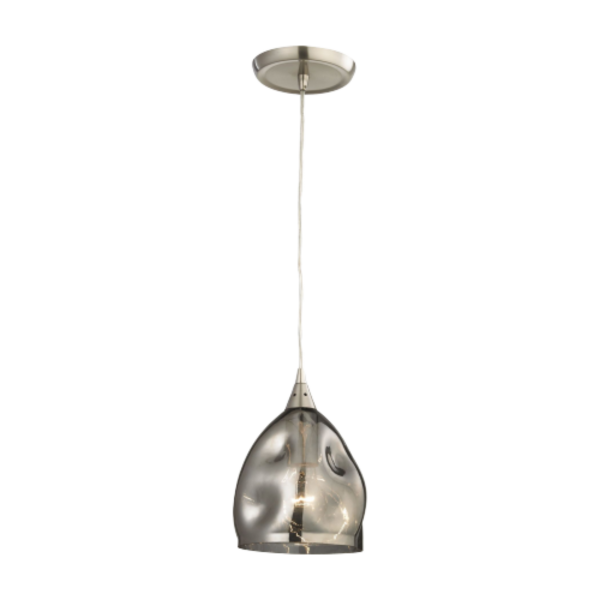 Ordito Chrome and Glass Pendant Light -