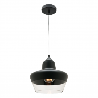 Stout Matt Black and Glass Pendant Light