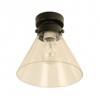 D.I.Y. Batten Fitting Small Cone Black Finish/Clear Glass