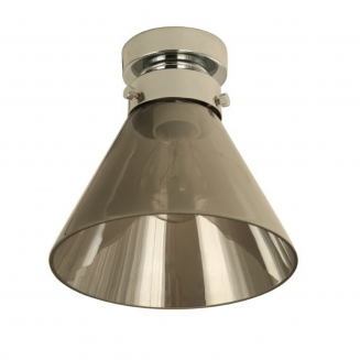 D.I.Y. Batten Fitting Small Cone Chrome Finish/Smoke Glass