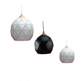 Geometric Metal & Timber Pendant Light