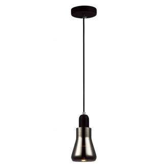 Yarra Black Smoke Glass Pendant Light
