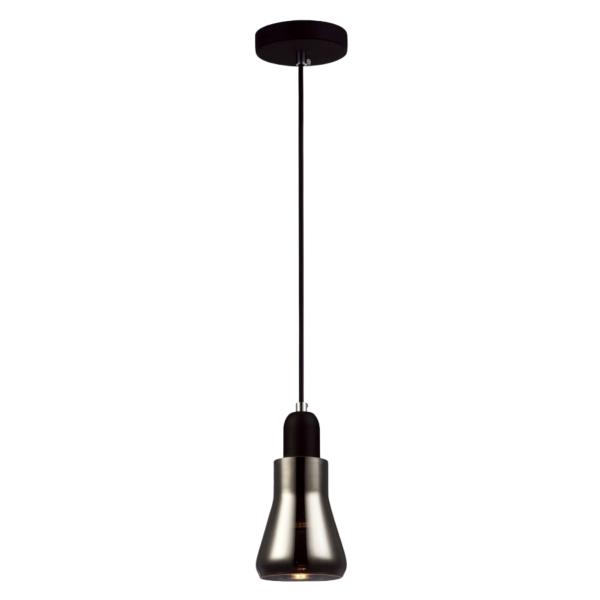 Yarra Black Smoke Glass Pendant Light -