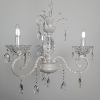 3 Light Pearl White Chandelier