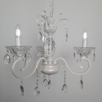 3 Light Pearl White Chandelier