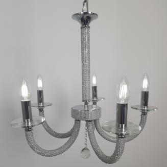 Modern Crystal Bead Embellished Chandelier
