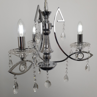 3 Light Cleopatra Cyrstal Beaded Chandelier