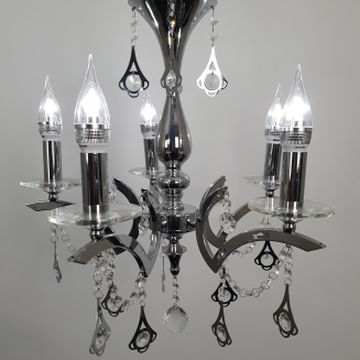 Pendant Crystal Beaded Chrome Chandelier