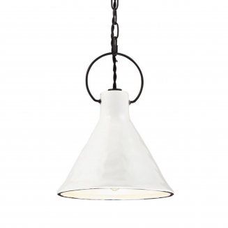 Ivy White 1 Light Vintage Pendant