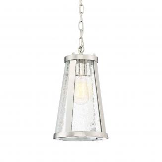 Lauren Nickel Seeded Glass 1 Light Pendant