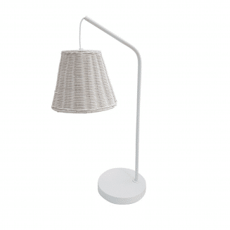 Hanging Cane Table Lamp