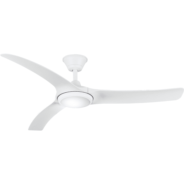 "Hunter Pacific Aqua Waterproof ""DC"" Ceiling Fan Matt White with 18W  LED CCT Light -"