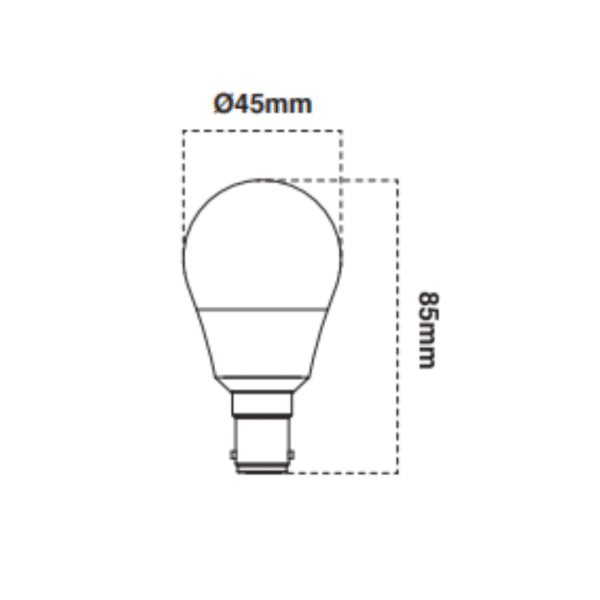 6W Frosted Dimmable SBC Fancy Round Lamp -