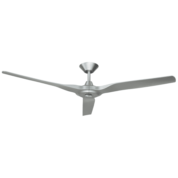 Hunter Pacific Radical 2 DC Ceiling Fan Brushed Aluminium with Silver Finish Blades -